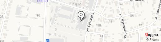Пак В.Ф. на карте Боралдая