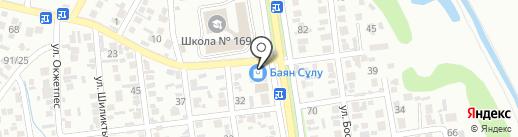 Баян сулу кешени на карте Алматы
