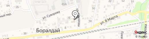 Участковый пункт полиции №10 пос. Боралдай на карте Алматы