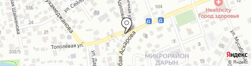 Продовольственный магазин на карте Алматы