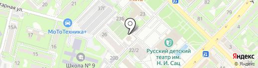 Нотариус Нуридинова Д.Е. на карте Алматы