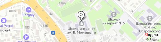 Алматинская Республиканская военная школа-интернат им. Б. Момышулы на карте Алматы