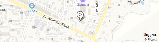 Жар-Жар на карте Боралдая