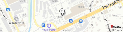 Большой переезд на карте Алматы