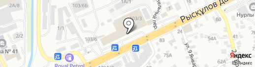 Алтын кайшы на карте Алматы