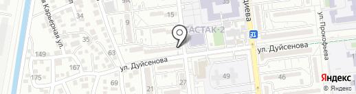 Асылай на карте Алматы