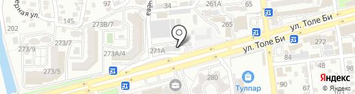 Алматинская мебельная фабрика, ТОО на карте Алматы