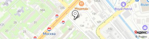 Алма на карте Алматы