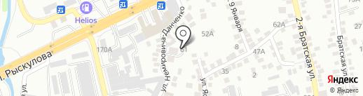 Автосиг на карте Алматы