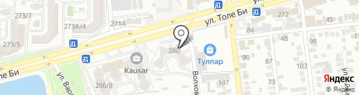 Зухра на карте Алматы