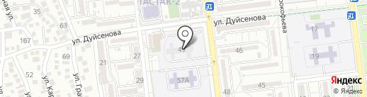 Автошкола на карте Алматы