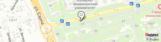 У дома на карте Алматы