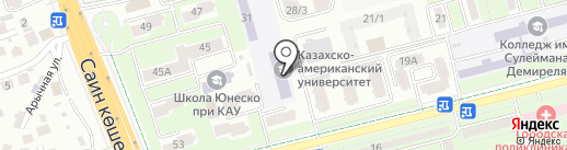 Алматинский колледж связи на карте Алматы