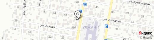 Абылайхан на карте Алматы