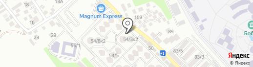 АГУГАЙ на карте Алматы
