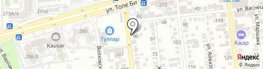 Едок на карте Алматы