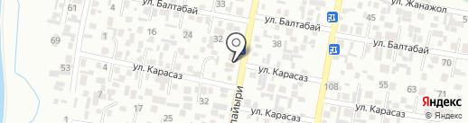 Кайсар на карте Алматы