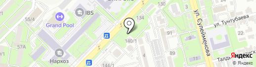 Нотариус Стамбаев К.М. на карте Алматы