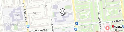 Гимназия №34 на карте Алматы
