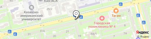 Ак-ниет на карте Алматы