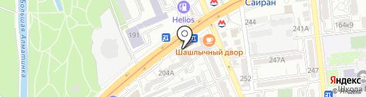 Айкуне на карте Алматы