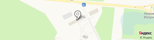 Три баньки на карте Излучинска