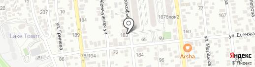 Гламурная Белка на карте Алматы