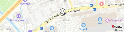 Метролог на карте Алматы