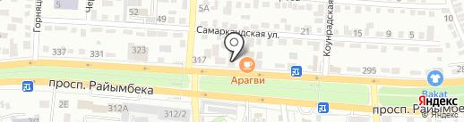 AIS на карте Алматы