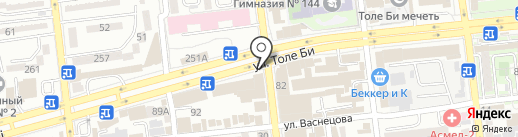 Оразгелди на карте Алматы