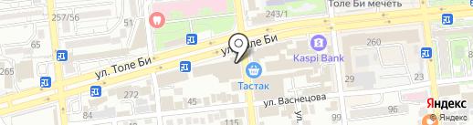 На Брусиловского на карте Алматы