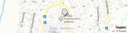 Отдел миграционной полиции УВД Алатауского района г. Алматы на карте Алматы