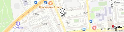 Чаки на карте Алматы