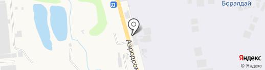 Мустанг на карте Боралдая