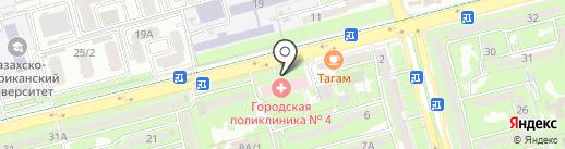 Городская поликлиника №4 на карте Алматы