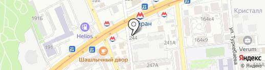 Нур-Дан на карте Алматы