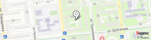 Тастак на карте Алматы
