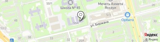 Орбита на карте Алматы