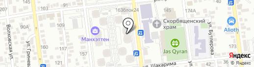 Алматы на карте Алматы