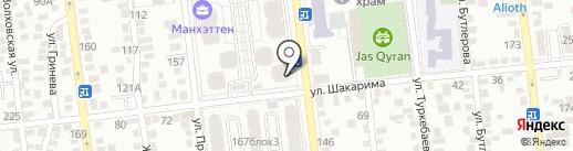Элвент на карте Алматы
