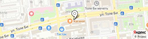 Мобильник на карте Алматы