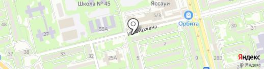 Капитан на карте Алматы