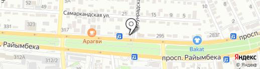 Скат на карте Алматы
