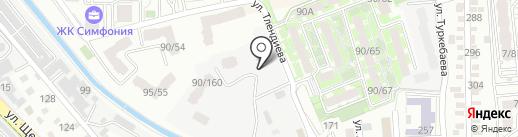 Столярный дом на карте Алматы