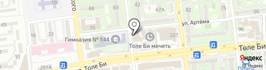 BM на карте Алматы