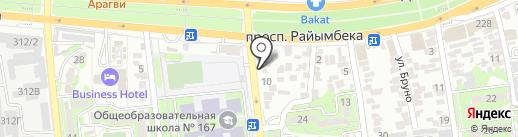 Vector на карте Алматы