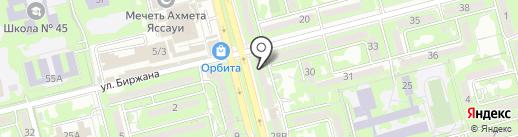 Детская городская поликлиника №4 Бостандыкского района на карте Алматы