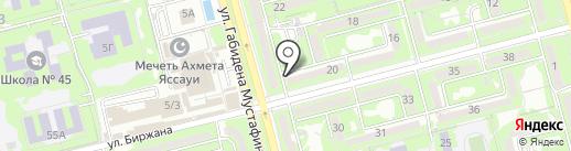 Нур, продуктовый магазин Беденов О.И. на карте Алматы