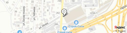 Магазин напольных покрытий на карте Алматы