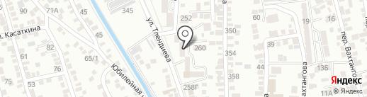 Шары Алматы на карте Алматы